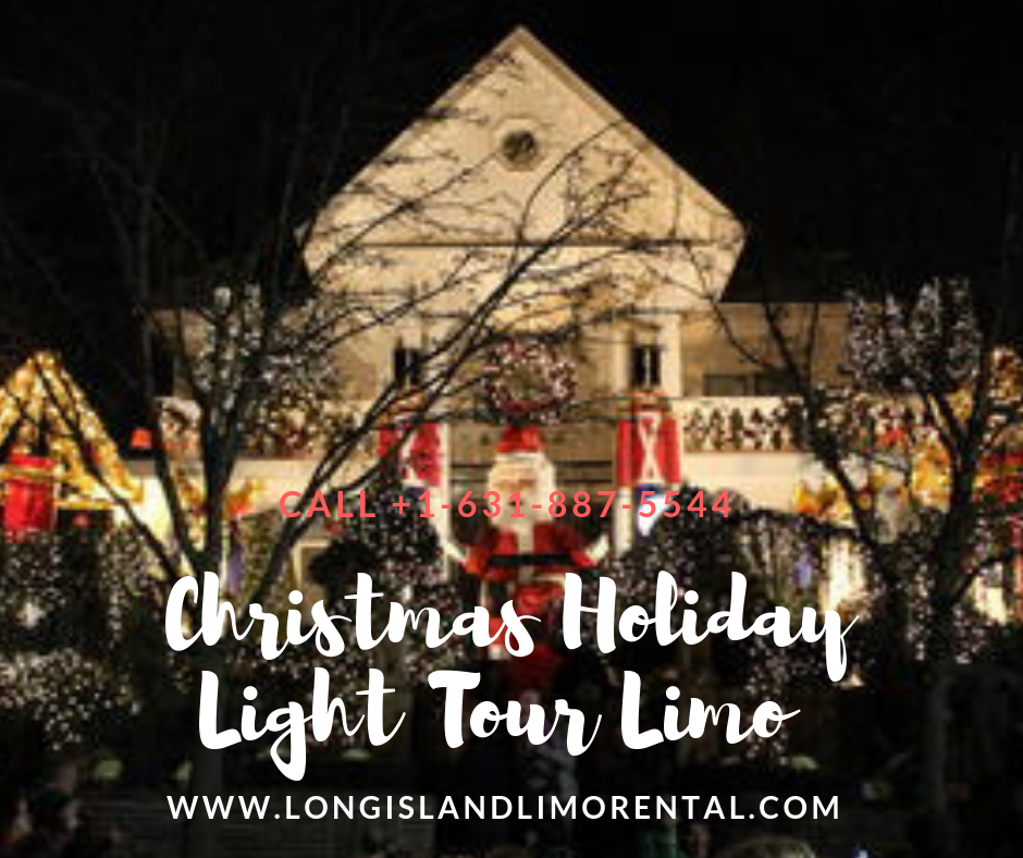 Christmas Holiday Light Tour Limo Service in Long Island