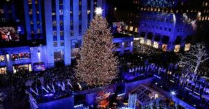limo service to and from 2019 Rockefeller Center Christmas Tree Lighting